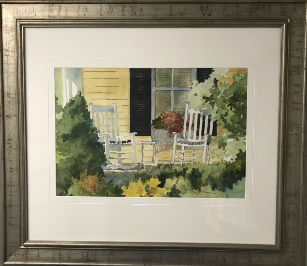 """Betty Brown, """"Porch on Yellow House"""""""