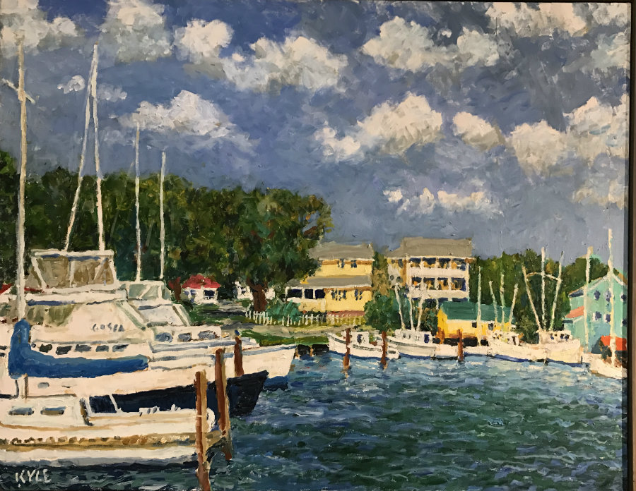 "Kyle Highsmith, ""Big Boats in the Yacht Harbor"""